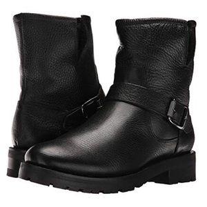 Frye Natalie Short Engineer Shearling Lug Boot